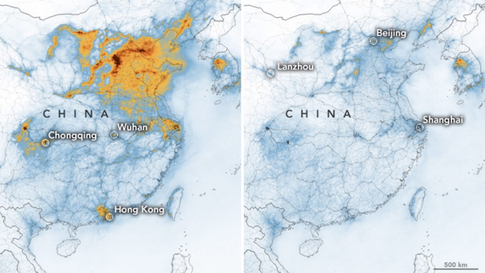 nasa pollution china virus