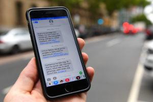 coronavirus text message australia