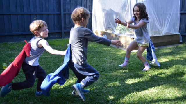 Pin-the-tail is best played in a front or back yard.