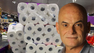 Garry Linnell and toilet paper