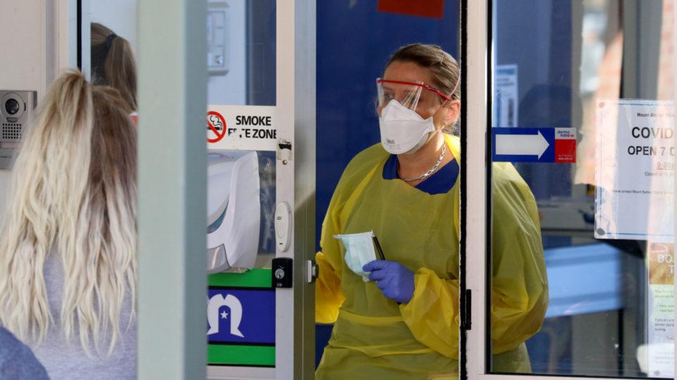 health worker fine spitting