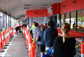 supermarket assault coronavirus queue