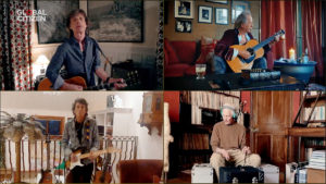 """In this screengrab, Mick Jagger, Keith Richards, Ronnie Wood and Charlie Watts of musical group """"The Rolling Stones"""" perform during """"One World: Together At Home"""" presented by Global Citizen on April, 18, 2020. The global broadcast and digital special was held to support frontline healthcare workers and the COVID-19 Solidarity Response Fund for the World Health Organization, powered by the UN Foundation."""