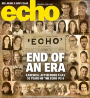 Echo newspaper front page