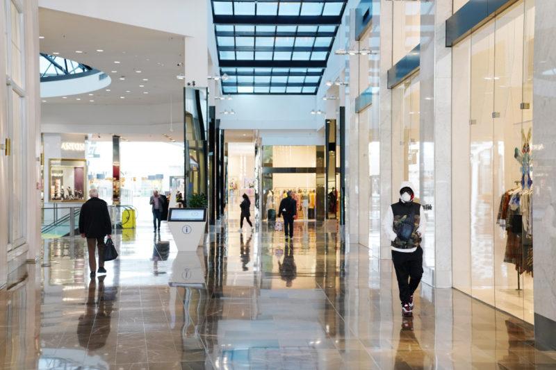 The coronavirus has emptied Australian shopping centres.