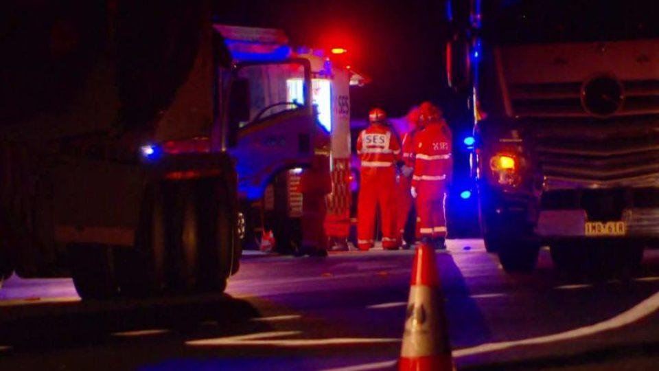 roadside brawlers hit truck.