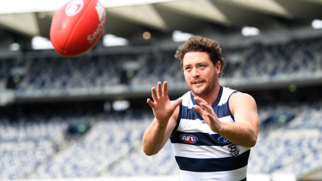 AFL star Jack Steven returns to Cats training