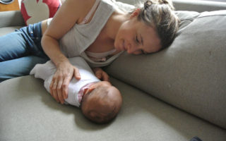Gabrielle Nancarrow and her baby