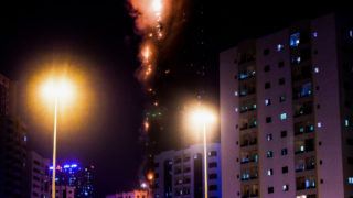 addco tower sharjah fire