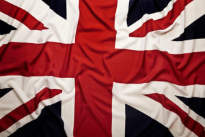 The Union Jack; the flag of the United Kingdom.