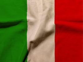 The Italian flag.