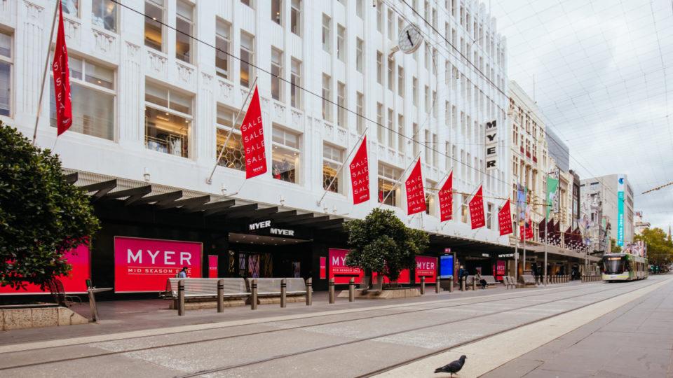 Melbourne shops empty