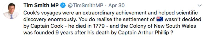 A tweet by Victorian MP Tim Smith
