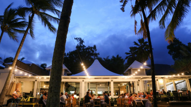 Beachfront dining at Nu Nu, at Palm Cove, north of Cairns. Photo: Supplied