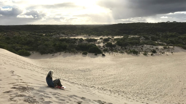 Go dune surfing on Kangaroo Island.