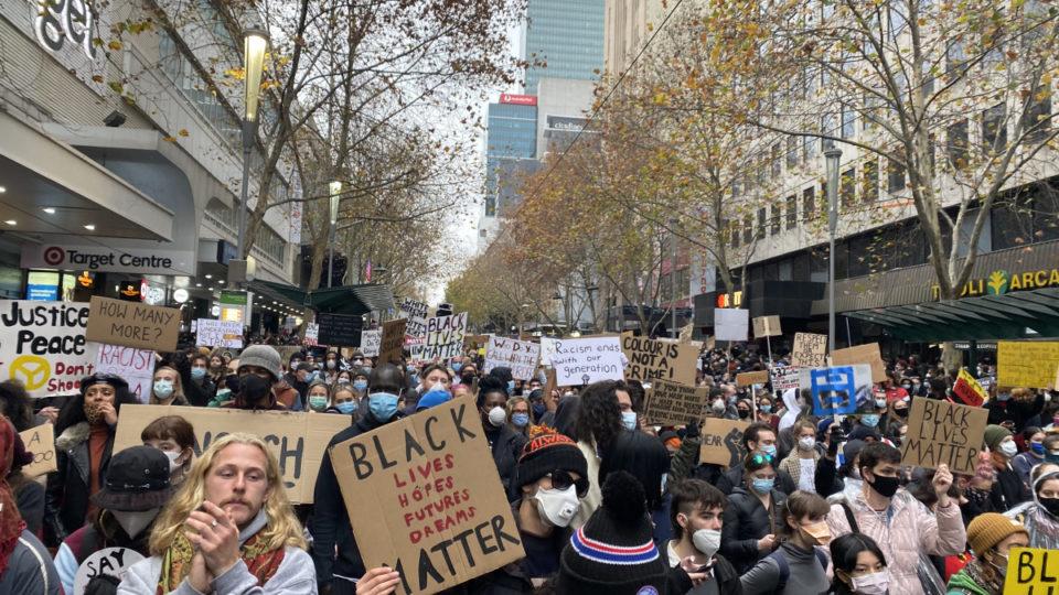 blm protest melbourne virus