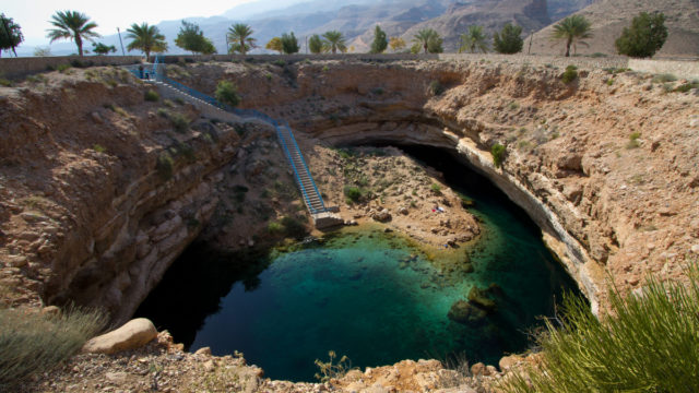 Come on in, the water's great – Hawaiyat Najm in Oman.