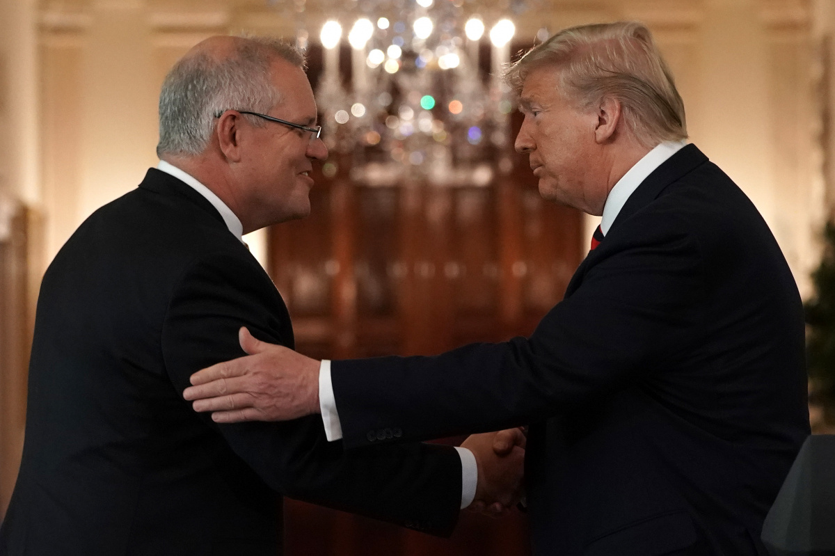 Mr Morrison was welcomed to Washington DC by Mr Trump in 2019.