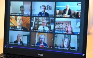 A virtual session broadcast on Scottish Parliament TV on June 25, 2020 in Edinburgh, Scotland