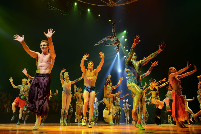 """Cast members of Cirque Du Soleil perform in """"Cirque Du Soleil's Totem"""" dress rehearsal at Citi Field on March 13, 2013 in New York City. (Photo by Andrew H. Walker/Getty Images)"""