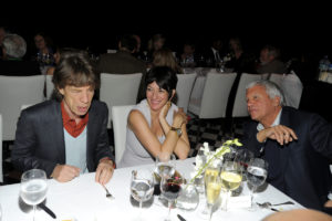 Mick Jagger, Ghislaine Maxwell and Larry Gagosian