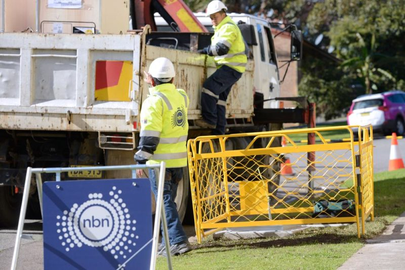 NBN contractor Foxcomm install an FTTN on the corner of Parry and Darby Street Cooks Hill, Newcastle NSW 270715. All talent photographed have signed media release forms. Reference Numbers cooks_hill_27072015_001.pdf to cooks_hill_27072015_006