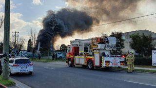 thomastown factory fire