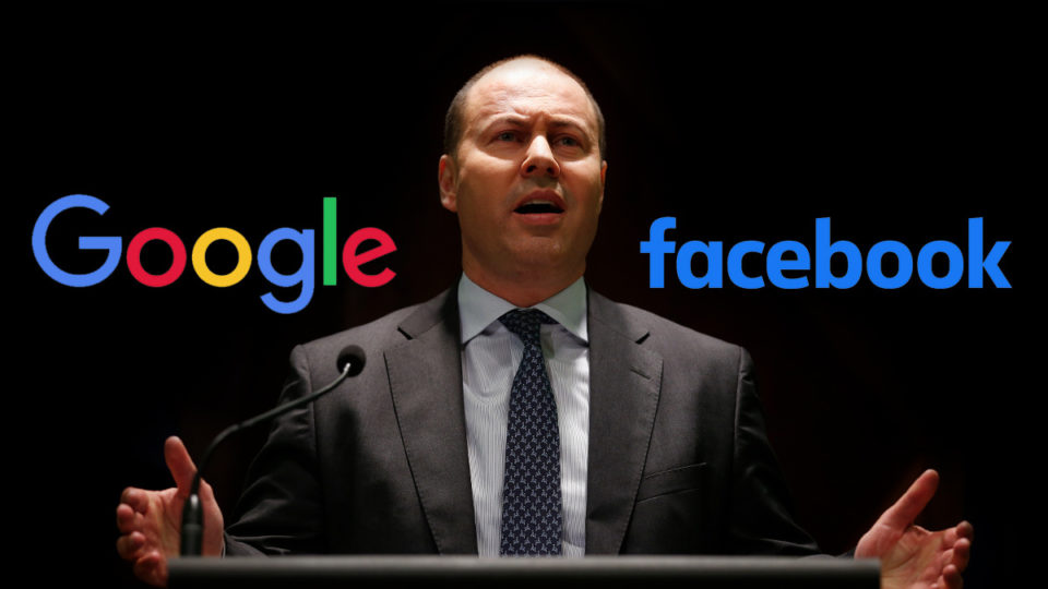 Treasurer Josh Frydenberg has unveiled a new code madating Facebook pay news outlets.