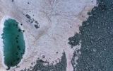 Pink glaciers