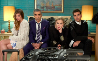 Catherine O'Hara, Eugene Levy, Annie Murphy, and Dan Levy