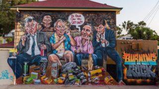scott marsh politicians mural ice