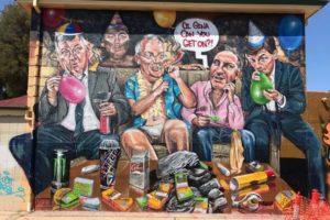 scott marsh mural politicians