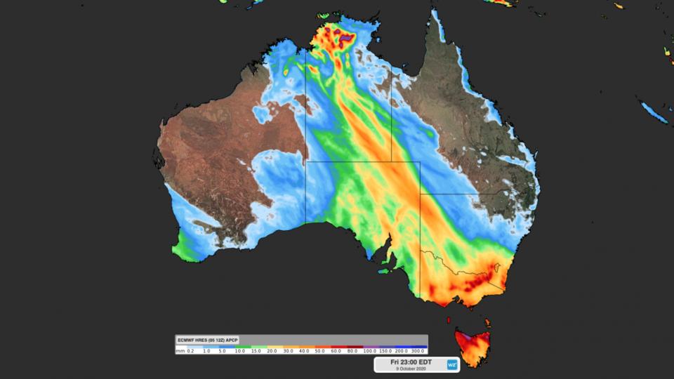 se australia rain october