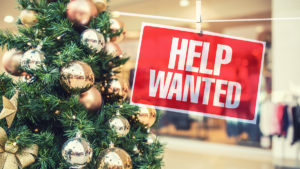 Retailers are looking for Christmas staff.