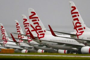 The pair flew on Virgin Australia to Melbourne without going into quarantine.