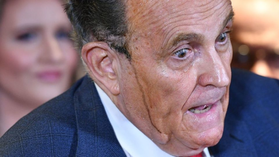 rudy giuliani sweat press