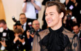 Harry Styles attends The 2019 Met Gala Celebrating Camp: Notes on Fashion at Metropolitan Museum of Art on May 06, 2019