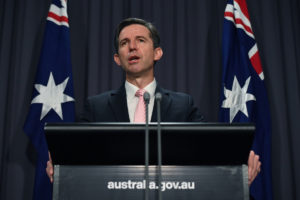 Simon Birmingham says Australia is taking China to the WTO over barley.