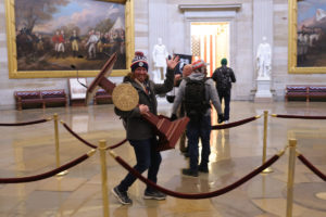 Protesters enter the U.S. Capitol Building on January 06, 2021 in Washington, DC