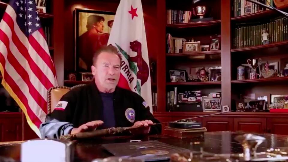 Schwarzenegger compares Trump Capitol riots to Nazi's Kristallnacht