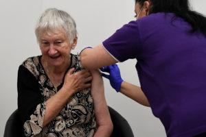 Jane Malysiak, recipient of Australia's first vaccines