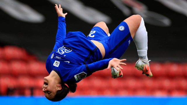 World famous backflip: Matildas Sam Kerr scores hat-trick ...