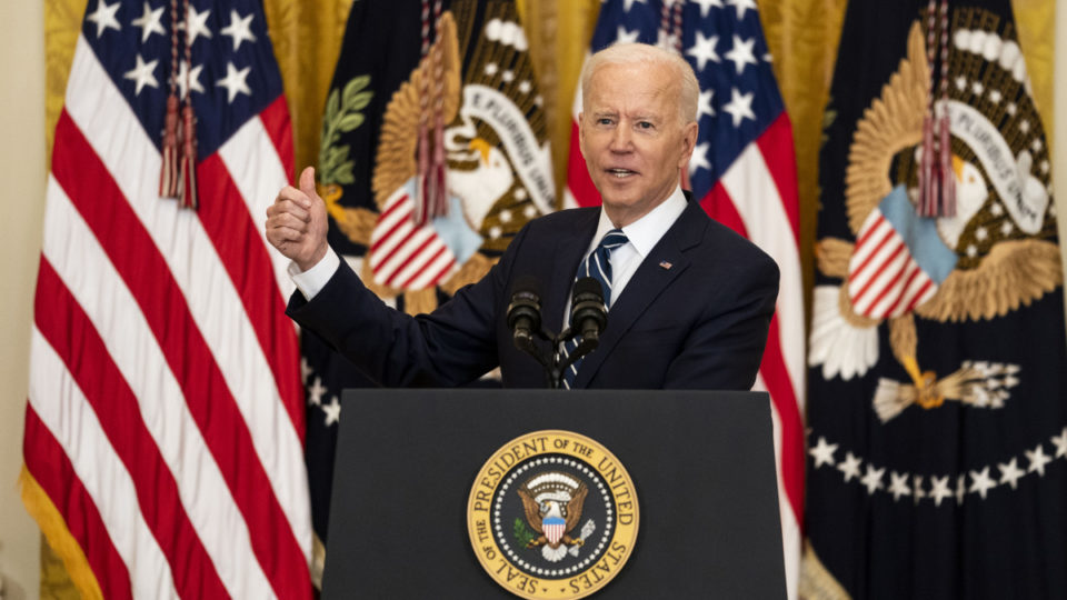 President Joe Biden speaks at the White House in Washington, March, 25 2021. At his news conference on Thursday, the president provided a revealing look into how he viewed the threat from Beijing.