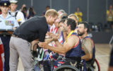 Harry greets Invictus athletes