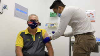 Scott Morrison receives Pfizer vaccine