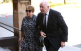Former Governor-General of Australia Sir Peter Cosgrove and his wife Lynne