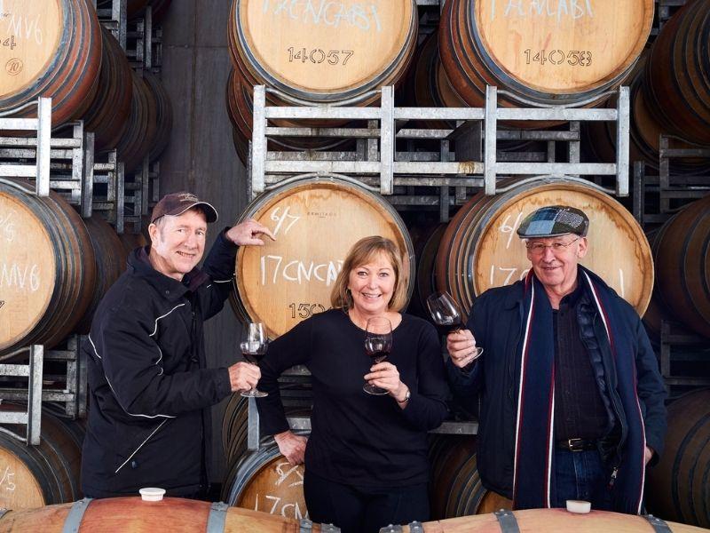 People standing in front of Barrel Wine Tasting