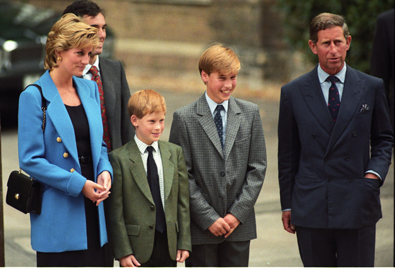 Diana and Charles with William and Harry in 1995