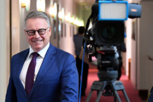 Mr Fitzgibbon was on a media blitz in Parliament House on Monday. Photo: AAP