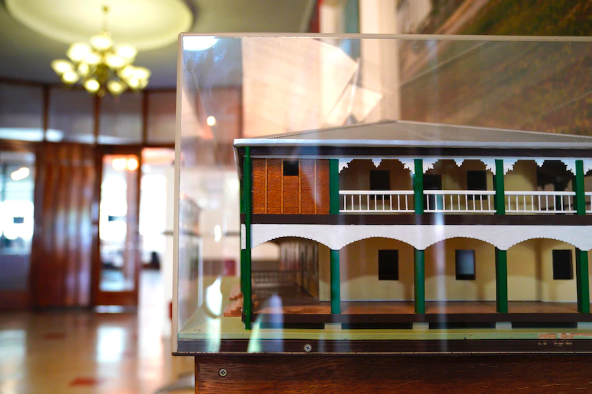 A scale model of the pub